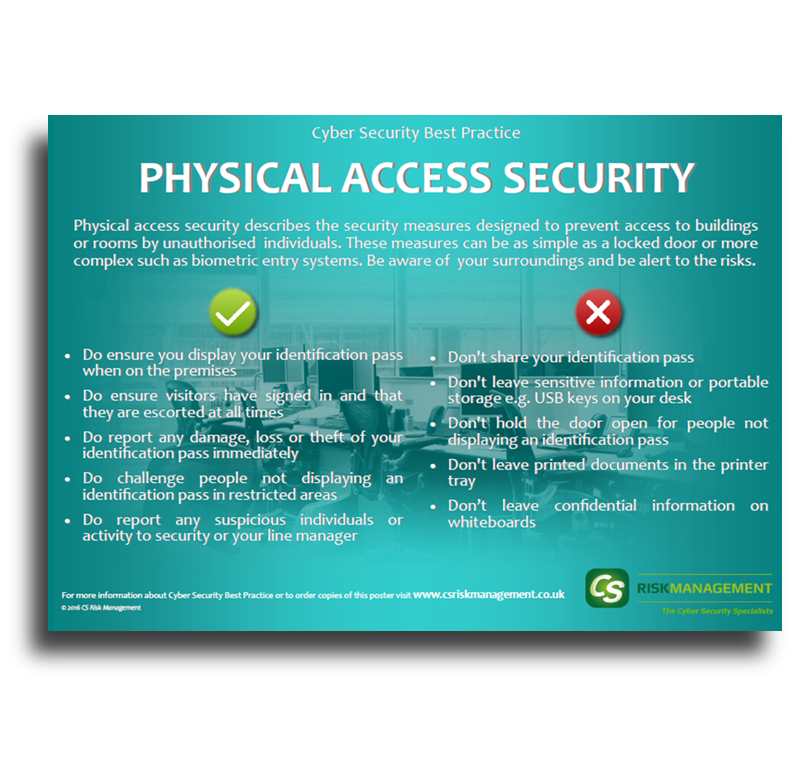 Physical Security Poster - Free to Download