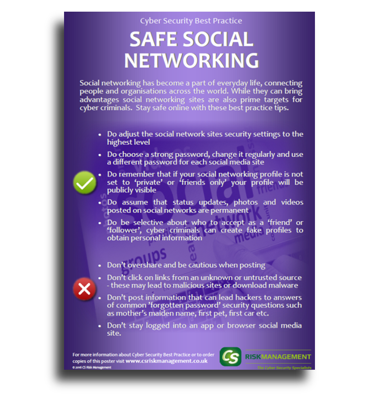 Safe Social Networking Poster - Free to Download